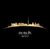 Dublin Irland Skyline Silhouette schwarz