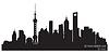 Shanghai China Skyline Silhouette