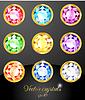 Set von farbigen Kristallen