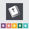 Bibel flach einzelnes Symbol