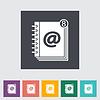 Kontakt Buchen flach einzelnes Symbol