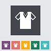 T-Shirt einzigen flachen icon