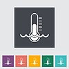 Thermometer flach icon