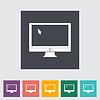 ID 3861776 | Monitor flach icon | Stock Vektorgrafik | CLIPARTO