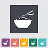 Reis flach icon