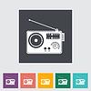 Radio einzigen flachen icon