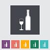 Wein flach icon
