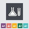 Chemisty flach icon