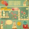 Retro-Geburtstags-Karte