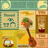 Hawaii-Weinlese-Karte