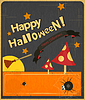 Halloween w stylu vintage karta | Stock Vector Graphics