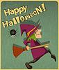 Halloween czarownica | Stock Vector Graphics