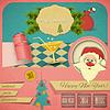 Old New Years Postkarte | Stock Vektrografik