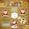Retro frohe Weihnachten und Silvester-Karte