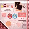Scrapbooking Set: Ich liebe dich