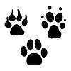 Hundeabdrücke