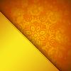 Orange Hintergrund mit Ornament
