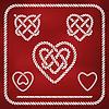 Herzform Seil Knoten
