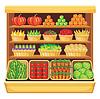 Supermarkt. Gemüse und Früchte