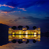 India landmark - Jal Mahal Lake Palace | 免版税照片