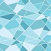 无缝蓝色几何多边形图案 - 抽象 | 向量插图
