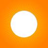 Orange abstrakten Hintergrund mit Sonne