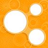 Skurril orange Hintergrund mit runden Elementen