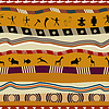 Nahtlose Muster in Tribal Style, mit Figuren von
