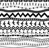 Schwarz und weiß nahtlose Muster im Ethno-Stil