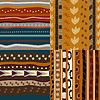 Set von afrikanischen ethnischen nahtlose Muster