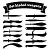 Satz von Silhouetten von Messer