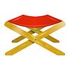 Folding Holzstuhl mit rotem Sitz