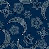 Nahtlose Muster mit Sternen und Mond