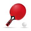 Red Schläger für Tischtennis und Ball