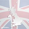 Abstract icon Karte des Vereinigten Königreichs