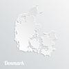 Abstract icon Karte von Dänemark, auf grauem Hintergrund