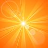 Abstract orange Hintergrund mit Sonnenstrahlen