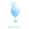 Ballon mit Goldkrone. Hintergrund Kleine Prinz