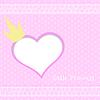Rosa Hintergrund kleine Prinzessin