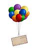 Luftpost Brief an Haufen Luftballons