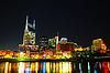 ID 3814179 | Downtown Nashville Pejzaż w nocy | Foto stockowe wysokiej rozdzielczości | KLIPARTO