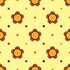 Witraż kwiat bezszwowe | Stock Vector Graphics