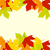 Autumn leaves Rahmen | Stock Illustration