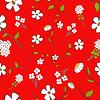 Nette Floral Seamless | Stock Vektrografik