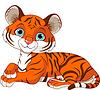 Ruhen kleine Tiger Cub