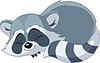 Lustige Schlafen Cartoon Waschbär