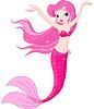 Mermaid Mädchen unter dem Meeresspiegel