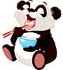 Netter Panda Reis essen