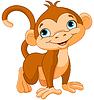猴宝宝 | 向量插图