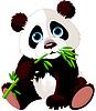 Panda ißt Bambus
